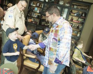 Boy Scouts Visit Andy Albright at National Agents Alliance
